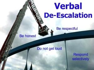 verbal deescalation